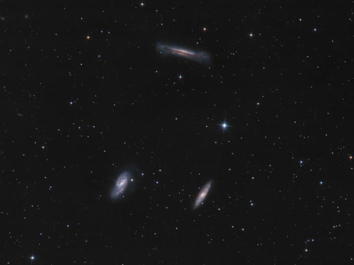 Tripletto del Leone - M66, M65 e NGC 3628 Seconda prova con la ASI 071, sempre sullo Sky-Watcher 200/800 f4. Queste sono 6 ore di segnale con scatti da 300 secondi e filtro Optolong L-pro.